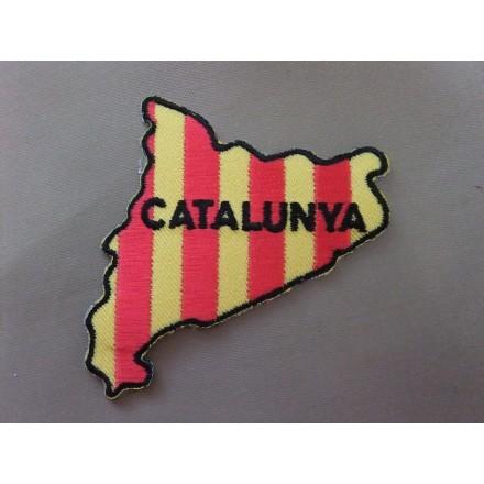 Pegat mapa senyera Catalunya (6,5x5,5)