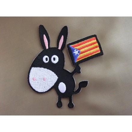 Pegat burro català amb estelada (8x8)