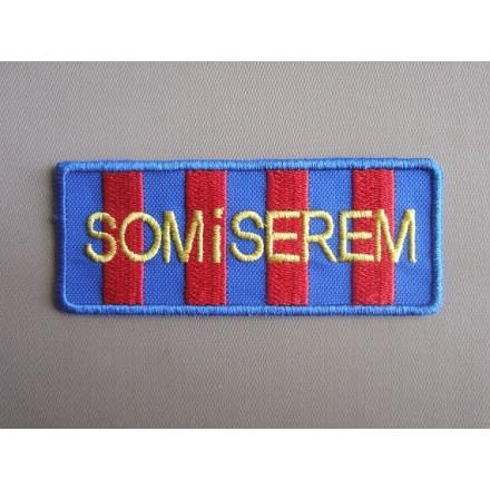 Brodat Som i serem petit (blaugrana) (9x3,5)