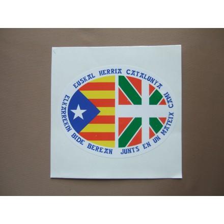 Adhesiu. Euskadi amb Estelada Blava